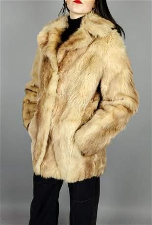 Beige Fox Fur Jacket