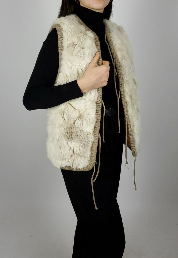 White Rabbit Fur Vest