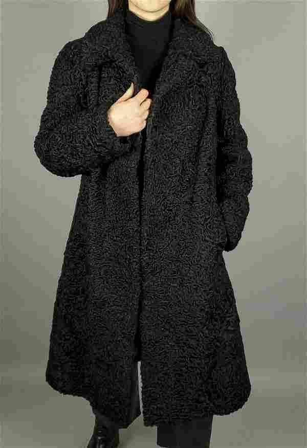 Black Curly Persian Lamb Coat