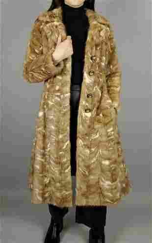 Beige And Brown Mink Fur Coat