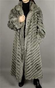 Reversible Silver Fox Fur Coat