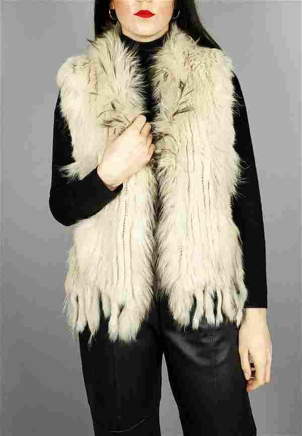 Cream Rabbit/raccoon Vest