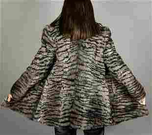 Dyed Grey Rabbit Fur Jacket
