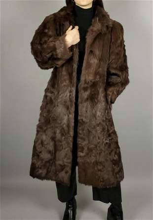 Brown Dyed Fox Fur Coat