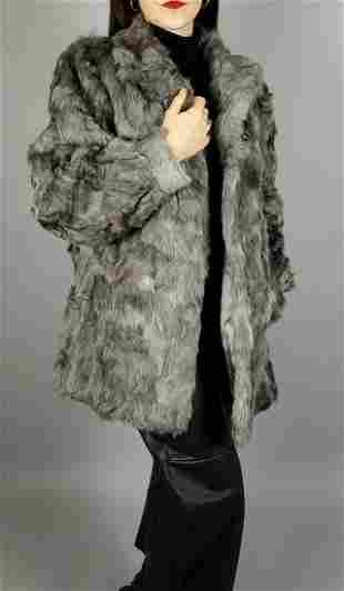 Grey Lamb Fur Jacket