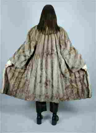 Saga Platinum Mink Fur Coat