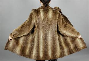 Brown Fox Short Fur Coat