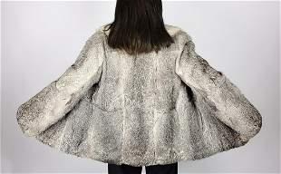 Grey Rabbit Fur Jacket