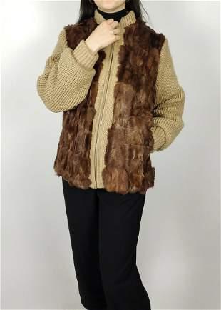 Brown Goat Fur Jacket