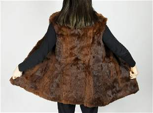 Brown Rabbit Fur Vest