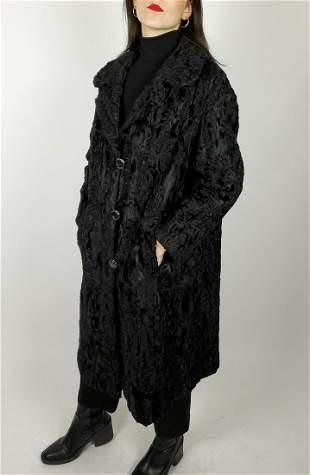 Black Broadtail Lamb Fur Coat