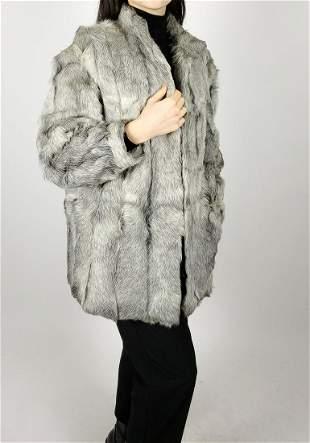 Grey Lamb Fur Coat