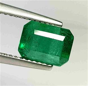 Natural Emerald Octagon Cut 2.59 ct