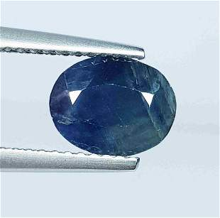 2.09 Ct Natural Faceted Sapphire Oval Cut