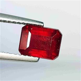 2.27 Ct Natural Ruby Octagon Cut