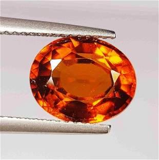 Natural Hessonite Garnet Oval Cut 4.20 ct