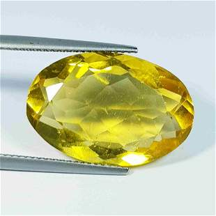 Natural Yellowish Orange Fluorite Oval Cut 20.82 ct