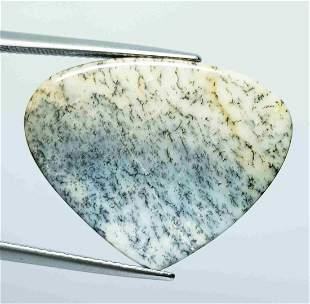 16.80 Ct Natural Dendrite Opal Pear Cabochon
