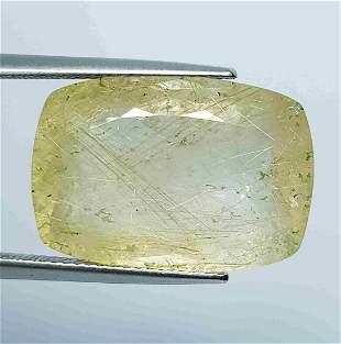 23.34 Ct Natural Golden Rutile Quartz Rectangular