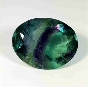 Natural Bi Color Fluorite Oval Cut 37.50 ct