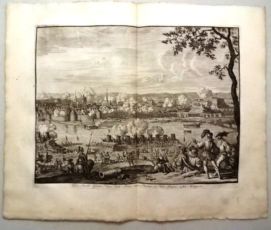730 Engraving of a Battle Prince of Parma