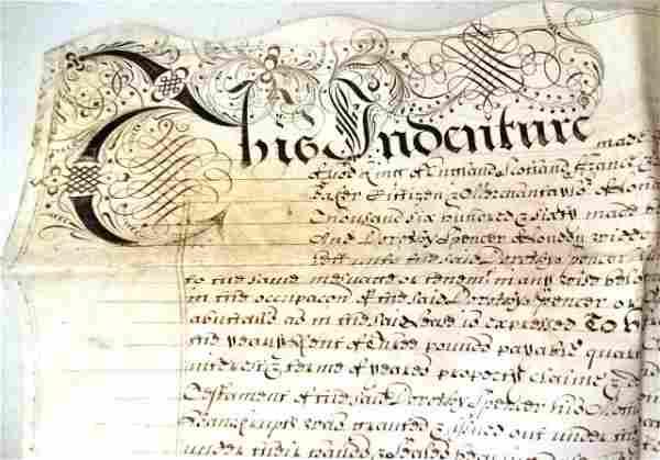1671 English Vellum Indenture London Querne