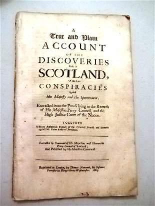 1685 True Discoveries Scotland Conspiracies