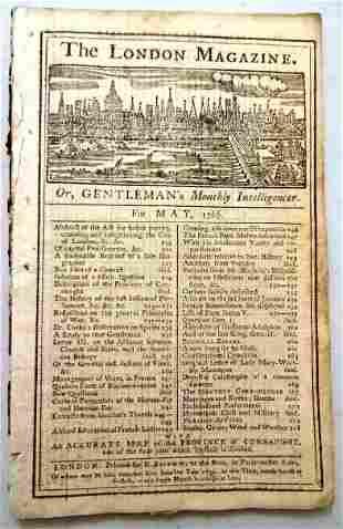 1766 Magazine American Trade Connaught Map