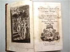 1788 European Magazine Eighteen Engravings