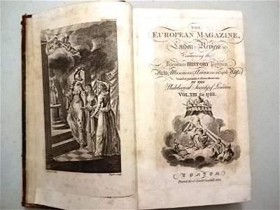 1788 European Magazine Eighteen Engravings