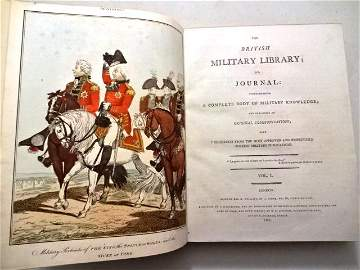 1799 British Military Journal Beautiful Plates