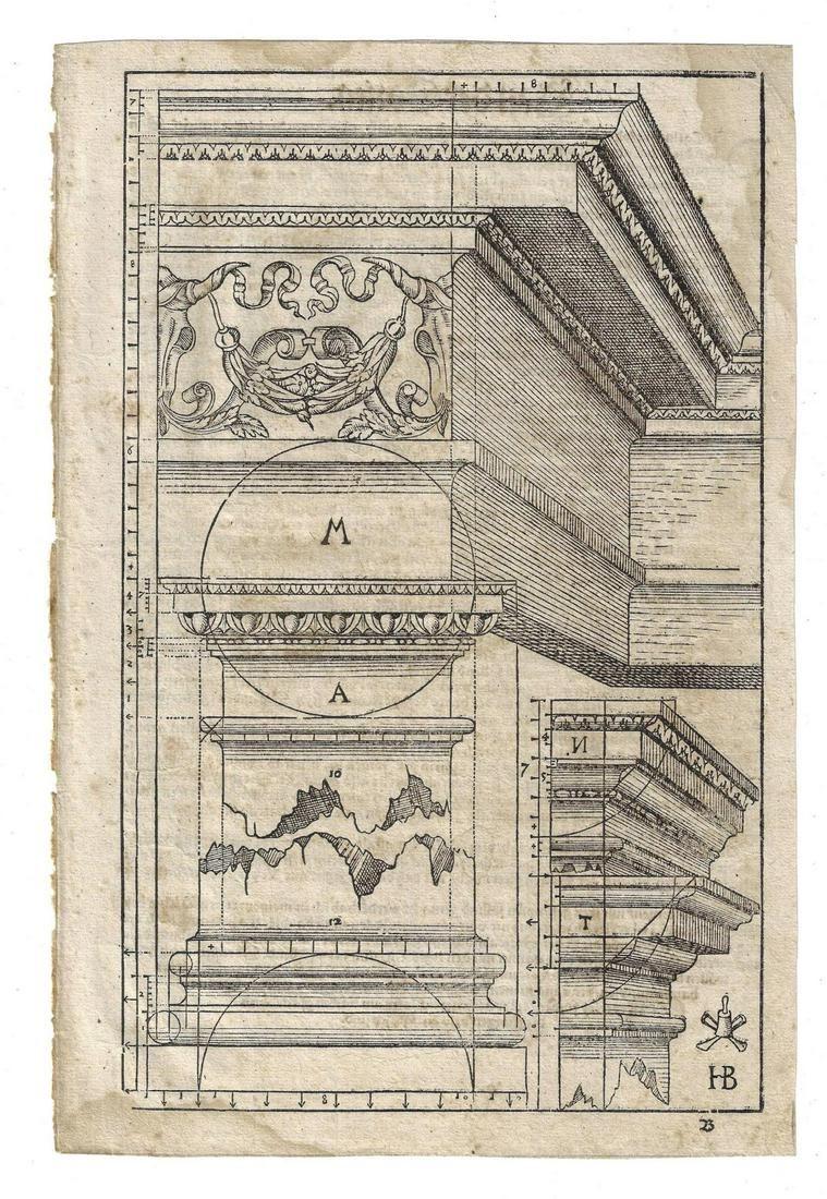 1579 Leaf Hans Blum Architecture Woodcut