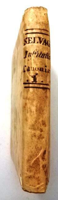 1794 Vellum Binding Institutionum Canonicarum