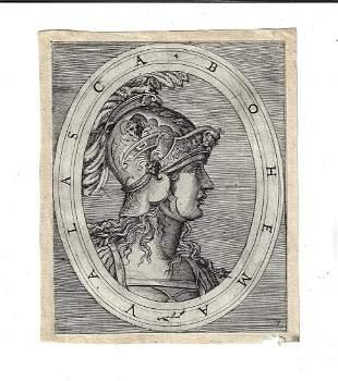 16th C Engraving of Antonio Salamanca