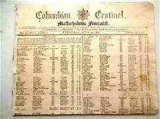 1801 Federalist Newspaper Poem to John Adams