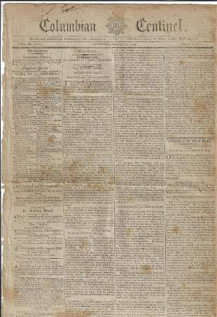 1794 Newspaper George Washington Whiskey Rebellion