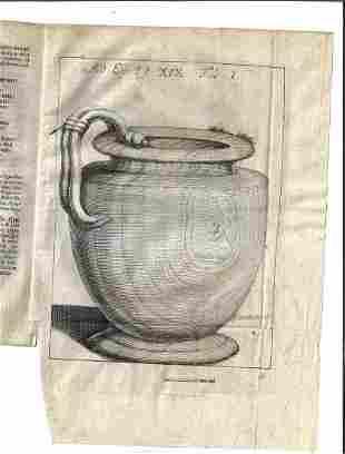1730 Bruckmann Epistola Itineraria Antiquities