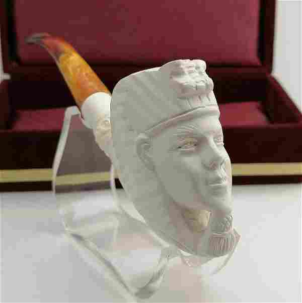 Egyptian Pharaoh,Hand carved Meerschaum Pipe