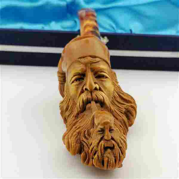 Dunhill,Hand carved Meerschaum Pipe.