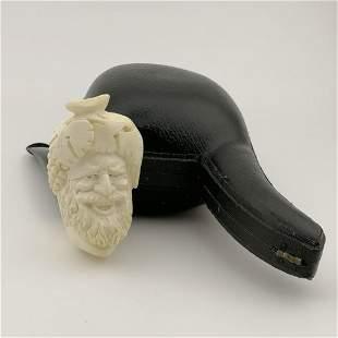 Bacchus Wine God,Hand carved Meerschaum Pipe.