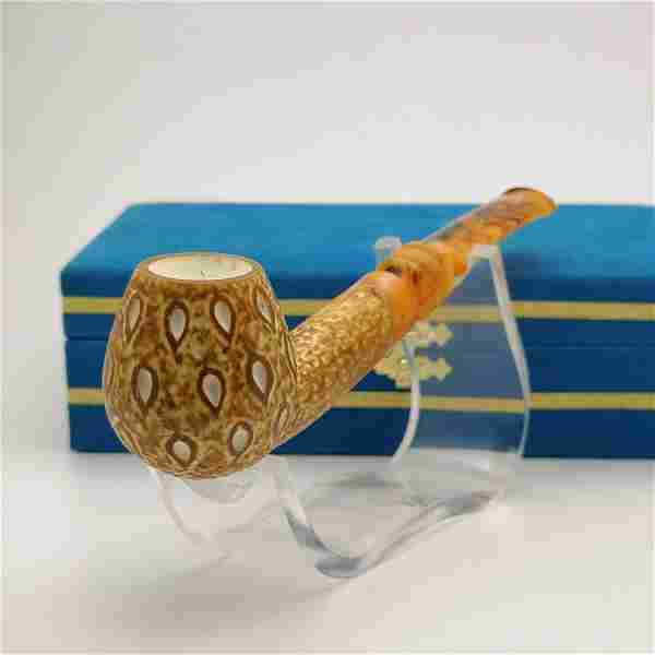 Classic Teardrop Brown,Hand carved Meerschaum Pipe