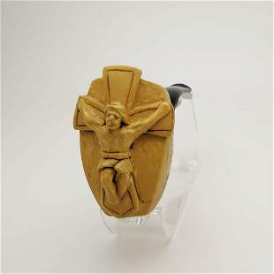 Jesus Lord God's Wisdom,Hand carved Meerschaum Pipe