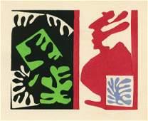 """Henri Matisse pochoir """"Composition noir et rouge"""""""