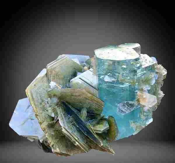 1034 C.T Blue Gemmy Aquamarine Specimen From