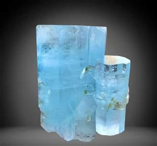 640 C.T Blue Gemmy Aquamarine Crystal From