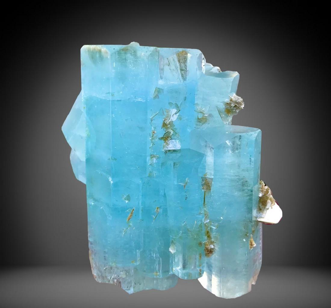 1596 C.T Blue Gemmy Aquamarine Crystal From