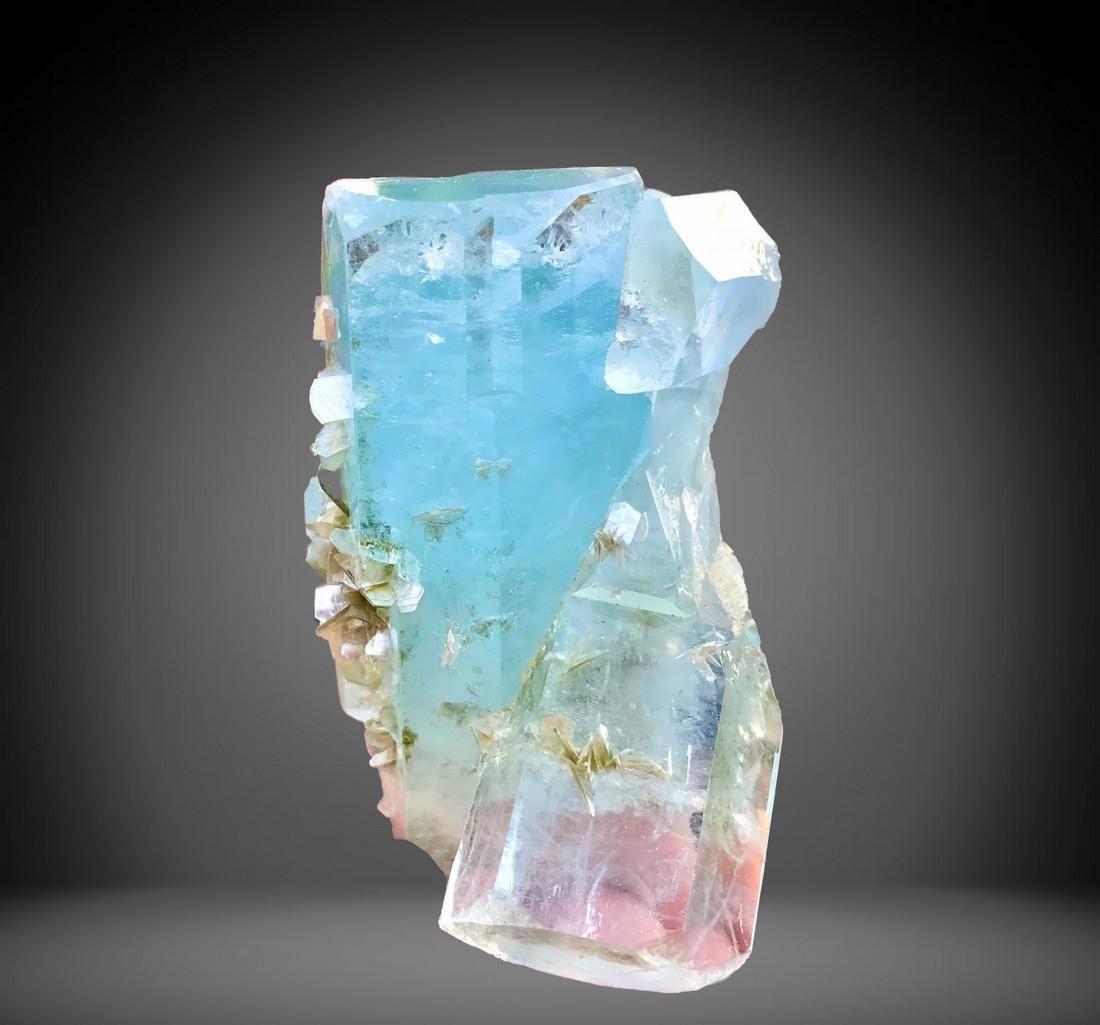 644 C.T Blue Gemmy Aquamarine Crystal From