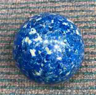 AAA Quality 480 Grams Aqua Blue Lapis Lazuli Sphere