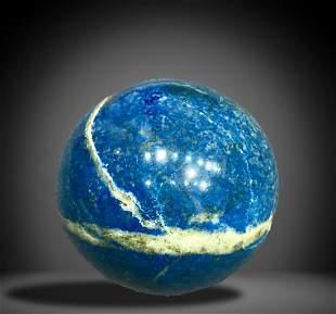AAA Quality 1300 Grams Aqua Blue Lapis Lazuli Sphere