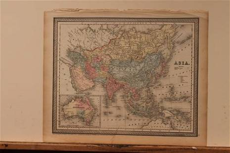1850 Map of Asia
